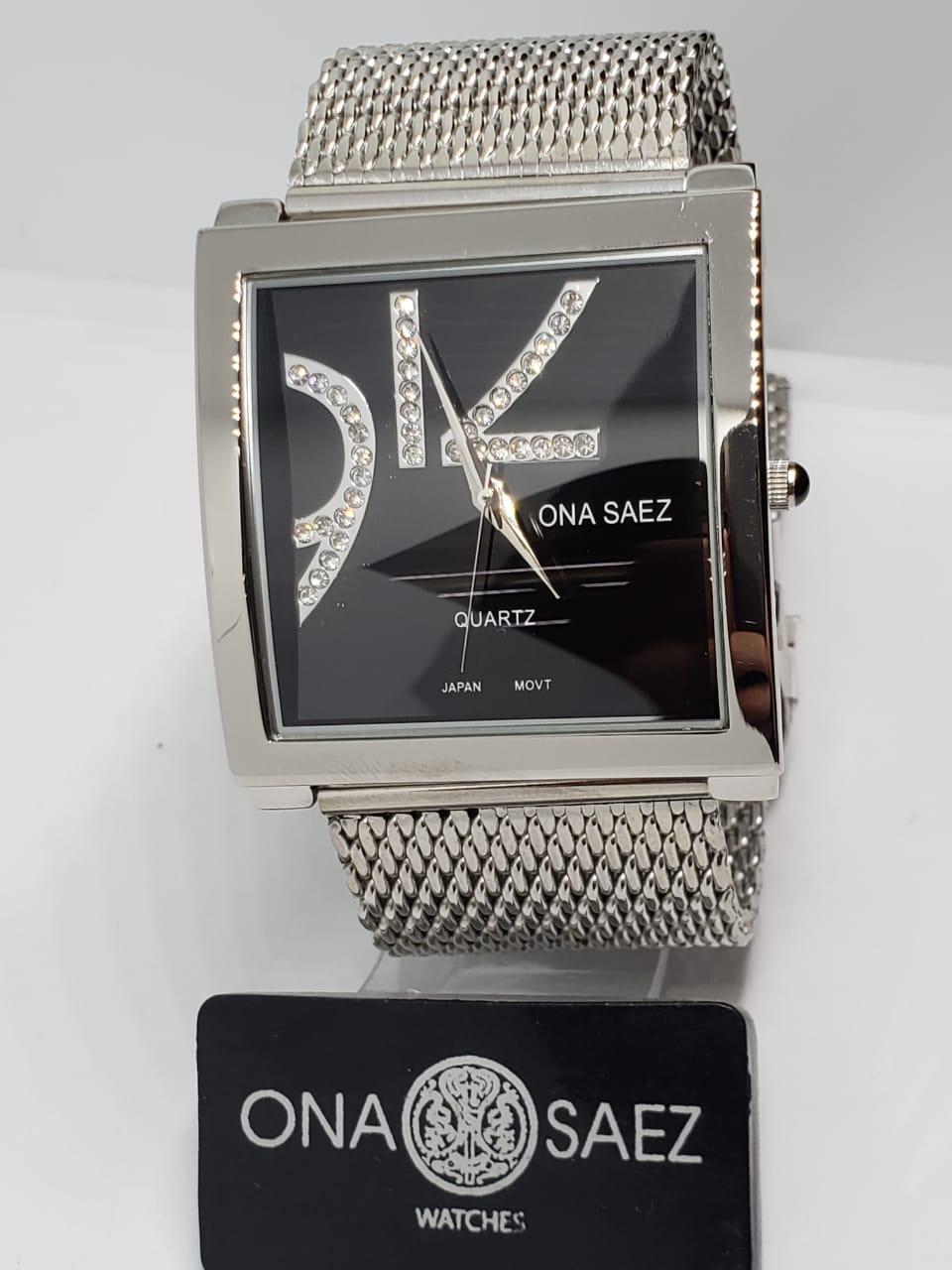 e8b80b061a08 Reloj Ona Saez Dama con cristales – malla tejida – Joyas Lan