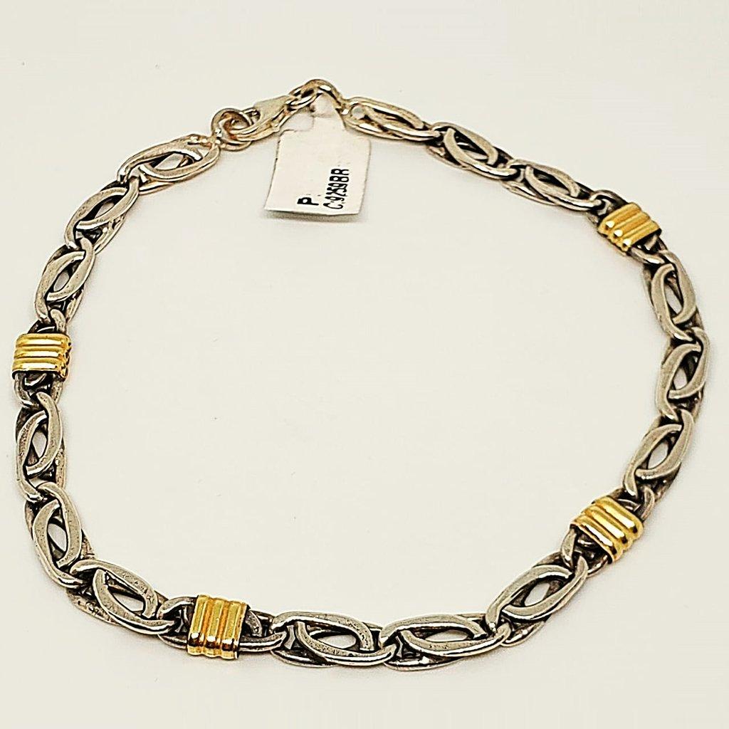 a5fd1d358eae Pulsera plata y oro código 9259BB