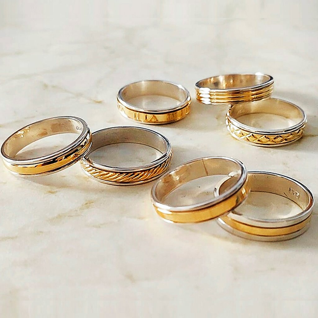 bajo precio 64a5a 557ce Alianzas plata y oro varios modelos